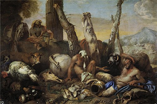 Oil Painting 'Castiglione Giovanni Benedetto Diogenes Buscando A Un Hombre 1645 55 ' Printing On Perfect Effect Canvas , 30 X 45 Inch / 76 X 115 Cm ,the Best (Pier 115 Halloween)