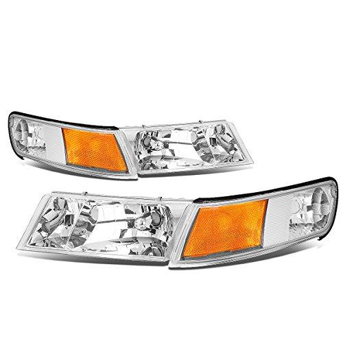 - For Mercury Grand Marquis 3rd Gen Pair of Chrome Housing Amber Corner Headlight + Corner Lights