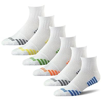 BERING Men's Quarter Athletic Compression Socks (6 Pair Pack)
