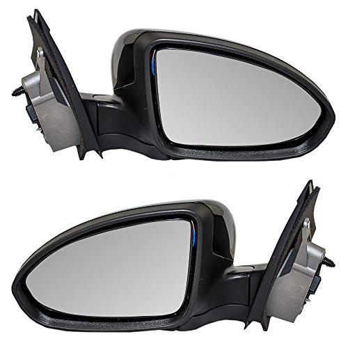 Driver and Passenger Power Side View Mirrors Ready-to-Paint Replacement for Chevrolet 19258657 19258658