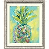 Framed Art Print 'Vibrant Pineapple II' by Jennifer Goldberger
