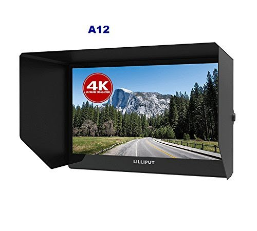 """Lilliput A12 - 12.5"""" 4K monitor 3840 x 2160 with HDMI, Displayport and SDI connectivity with V-mount battery plate"""