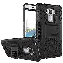 "MOONCASE Zenfone 3 Laser ZC551KL Case Built-in Kickstand Hybrid Armor Case Detachable 2 in 1 Shockproof Tough Rugged Dual-Layer Case Cover for Asus Zenfone 3 Laser ZC551KL 5.5"" Black"