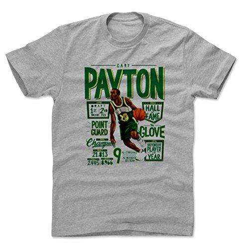 500 LEVEL Gary Payton Cotton Shirt (Large, Heather Gray) - Seattle Sonics Men's Apparel - Gary Payton Position G