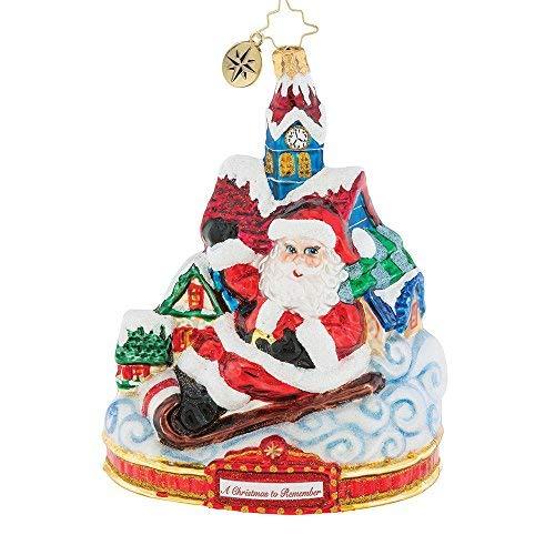 Christopher Radko Santa Snow Day Christmas Ornament