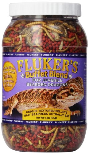 - Fluker's Buffet Blend Juvenile Bearded Dragon Formula, 4.4 Ounce