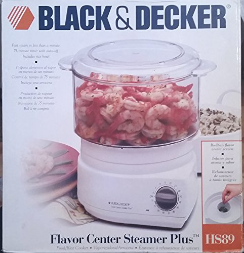 Black and Decker Hs89 Flavor Center Steamer Plus Food and Rice Cooker