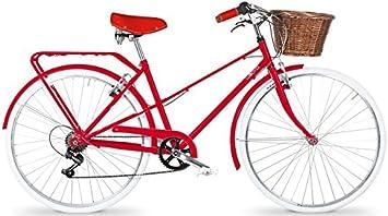 Bicicleta de paseo mujer - ROJA 6 velocidades **OFERTA ...