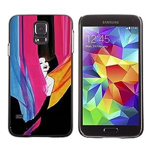 Paccase / SLIM PC / Aliminium Casa Carcasa Funda Case Cover para - happy girl - Samsung Galaxy S5 SM-G900
