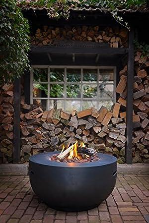Mania Cocoon Fuego mesa redonda de gas de chimenea de interfaz Bowl, Negro Diámetro 91 cm: Amazon.es: Jardín