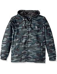 Men's Standard Fashion Sherpa Lined Fleece Hoodie