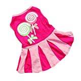 ABC® Candy Pattern Puppy Dog Doggie Apparel Clothes Hoodies Skirt Dress (S)