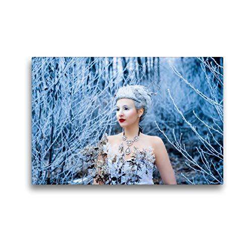 CALVENDO Toile en Textile de qualité supérieure 45 cm x 30 cm Motif La Reine des Neiges