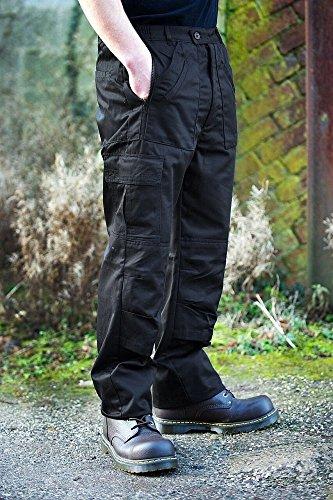 Pour De Pantalon 5 96 01 Workwear Warrior nbsp;cm nbsp;nwtr315bk 38t Hauteur Homme Combat Taille Noir naU7wqYXg