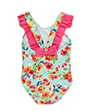 #8: RuffleButts Infant/Toddler Girls Retro Floral One-Piece Swimsuit w/Cross-Back