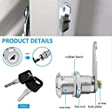 【Upgrade】Cabinet Cam Lock Set, 5 Pack Keyed