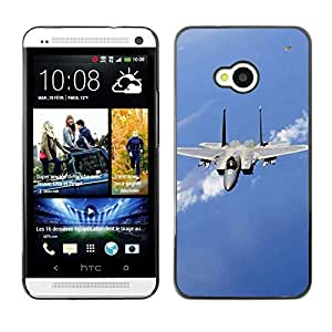 LECELL -- Funda protectora / Cubierta / Piel For HTC One M7 -- Nature Fighter Jet --