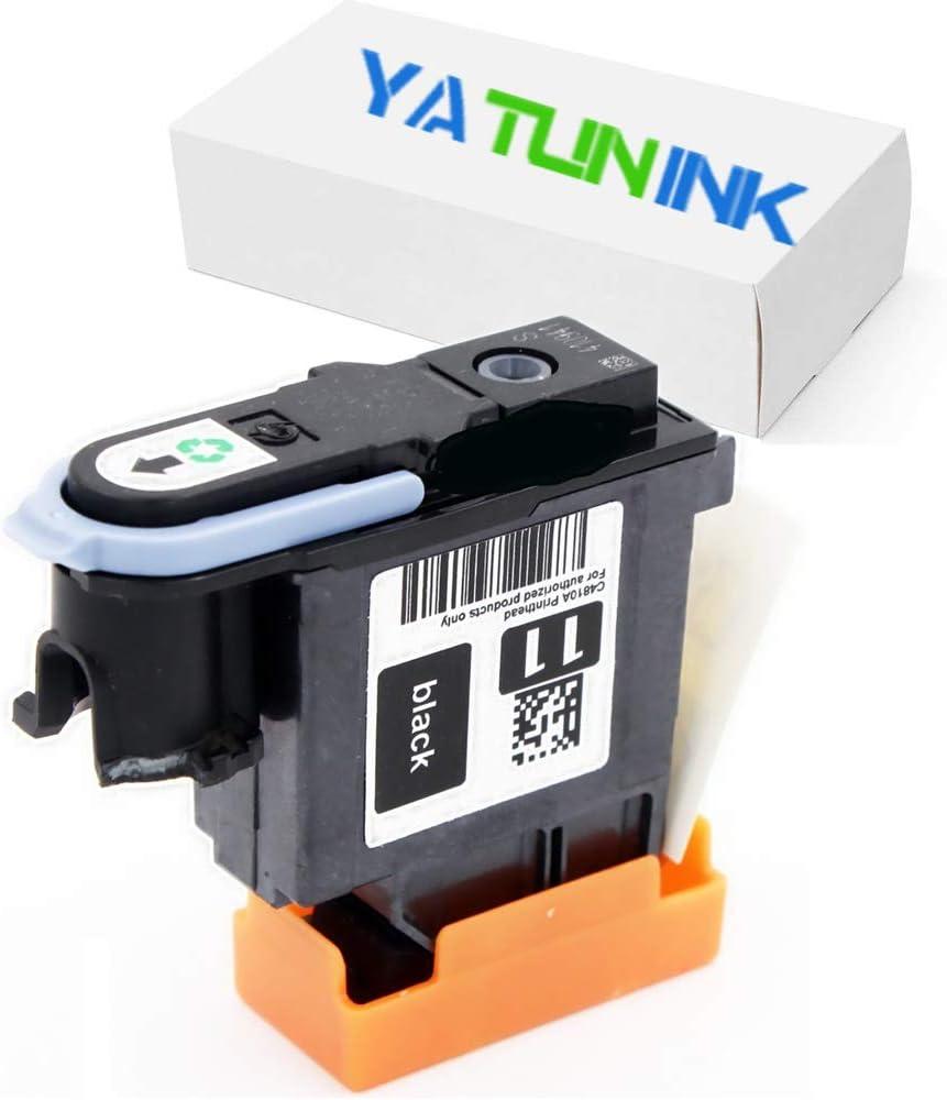 yatunink único 1 Pack (negro) 11 – Cabezal de repuesto para impresora HP 11 Cabezal de impresión C4810 A para impresora HP Color InkJet CP1700 (c8108 a) HP Color impresora de inyección
