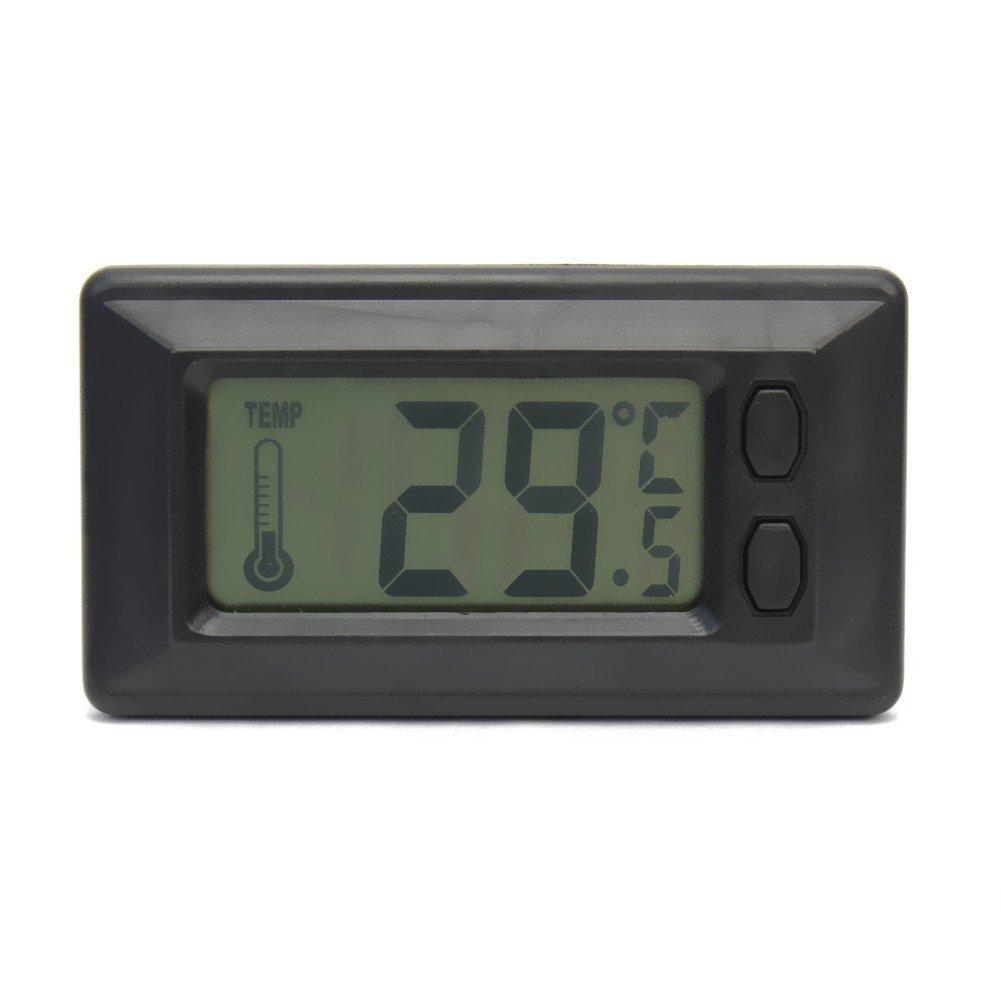 AzuNaisi Ú til LCD Pantalla de Inicio Sala Interior de Pared Termó metro Digital de Temperatura Suministros de Coches
