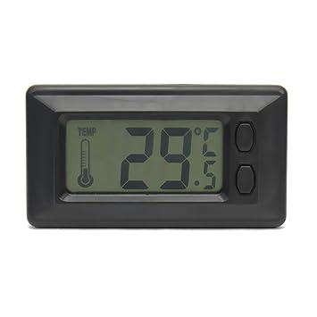 AzuNaisi Útil LCD Pantalla de Inicio Sala Interior de Pared Termómetro Digital de Temperatura Suministros de