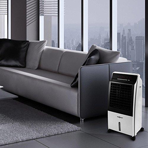 OneConcept CTR 1 V2 Wasser Zu Luft Kühler 4 In 1 Tragbares  Luftkühlungssystem (65W, Fernbedienbar, 400m3/h) Weiss: Amazon.de: Küche U0026  Haushalt