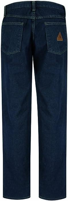 Bulwark 30 X 37 Sanded Denim Cotton Flame Resistant Denim Jeans With Button Closure