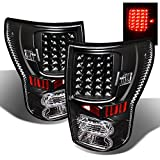For 07-13 Toyota Tundra Pickup Truck Black Bezel Rear LED Tail Lights Brake Lamps Replacement Pair