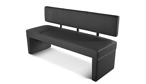 SAM® Esszimmer Sitzbank Sabatina, 180 cm, in grau, Sitzbank mit Rückenlehne  aus Samolux®-Bezug, angenehmer Sitzkomfort, frei im Raum aufstellbare Bank