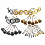 36 PC Brass Wire Wheel Brushes for Dremel Accessories Rotary Tools Polish Clean