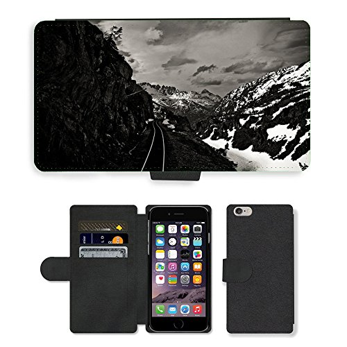 "PU Leather Cover Custodia per // M00421593 Railway Tracks Transport ferroviaire // Apple iPhone 6 4.7"""