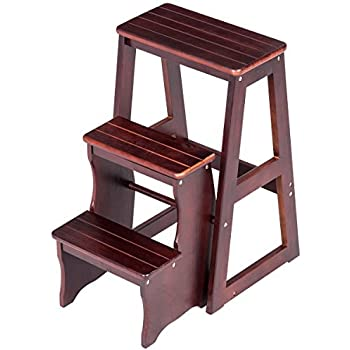 Amazon Com Step Stool 3 Tier Ladder Chair Bench Seat