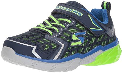 Skechers Kids Boys' THERMOFLUX-Nano-Grid Sneaker, Navy/Lime, 3 Medium US Little - Skechers Velcro