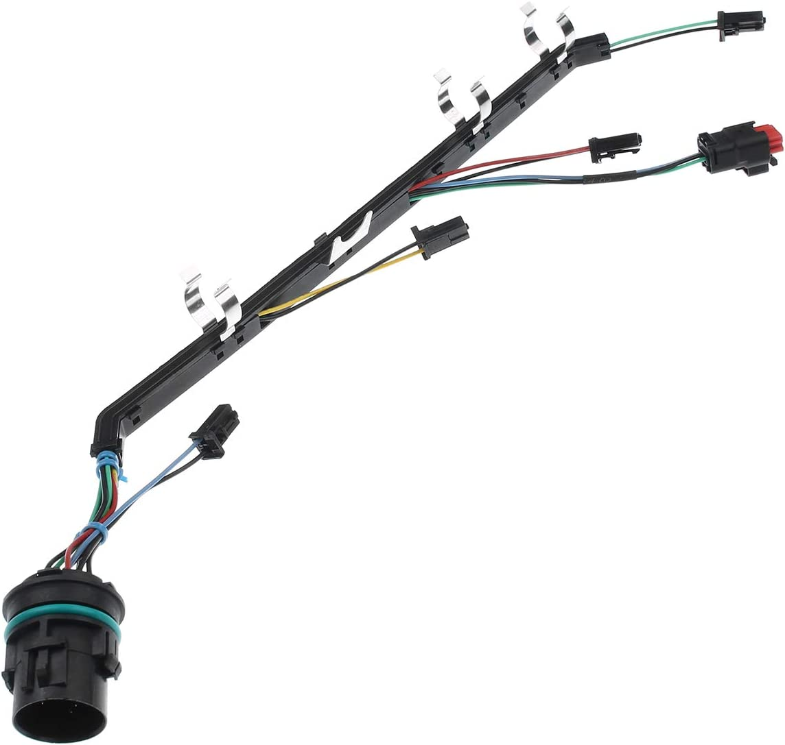 A-Premium Fuel Injector Wiring Harness Right Compatible with Ford F-250//250//350//450//550 Super Duty 2008-2010 V8 6.4L Diesel Engine