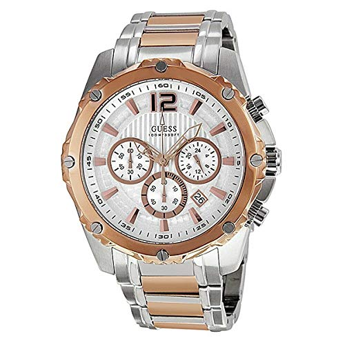 Guess U0165G2 Men's Stainless Steel Rose Two Tone Chronograph Sports Watch