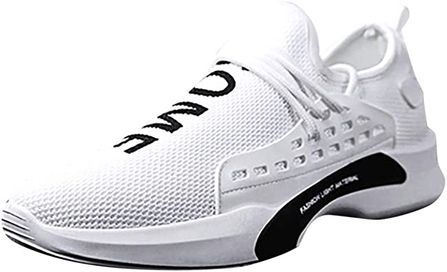 Zapatos Deportivas Hombre 2019,Hombre Zapatillas Deportivas Zapatos para Correr Running Malla Transpirable Casuales,Blanco,38: Amazon.es: Zapatos y complementos