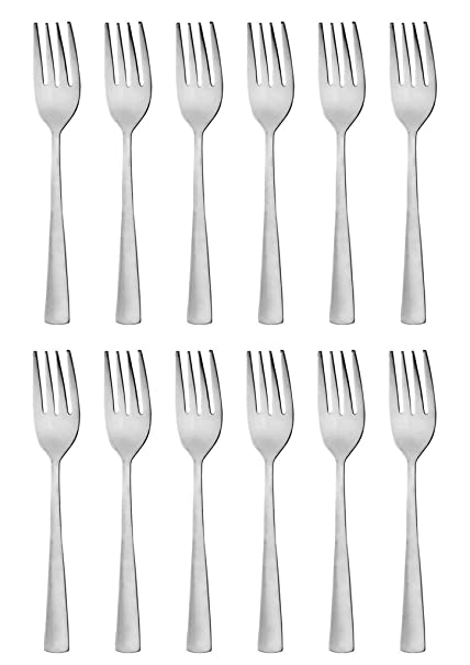 Buy Mosaic Stainless Steel Dessert Fork Set Of 12 Pieces Pure