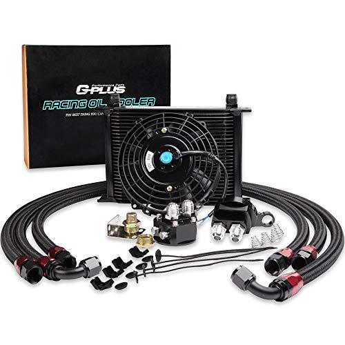 - High Performance 28 ROW 10 AN Universal Engine Oil Cooler Kit + Filter Kit + 7