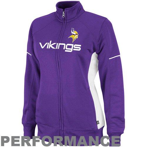 low priced ba33a bc0b8 NFL Women's Minnesota Vikings Counter F-Zip Trk J Long ...
