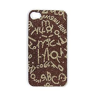 Marrón cubierta de plástico duro caso del tono de oro para el iPhone 4 4G 4S