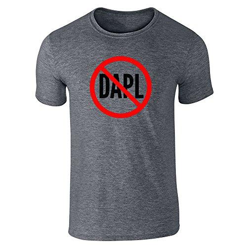 Pop Threads No To Dakota Access Pipeline Dapl Dark Heather Gray M Short Sleeve T Shirt