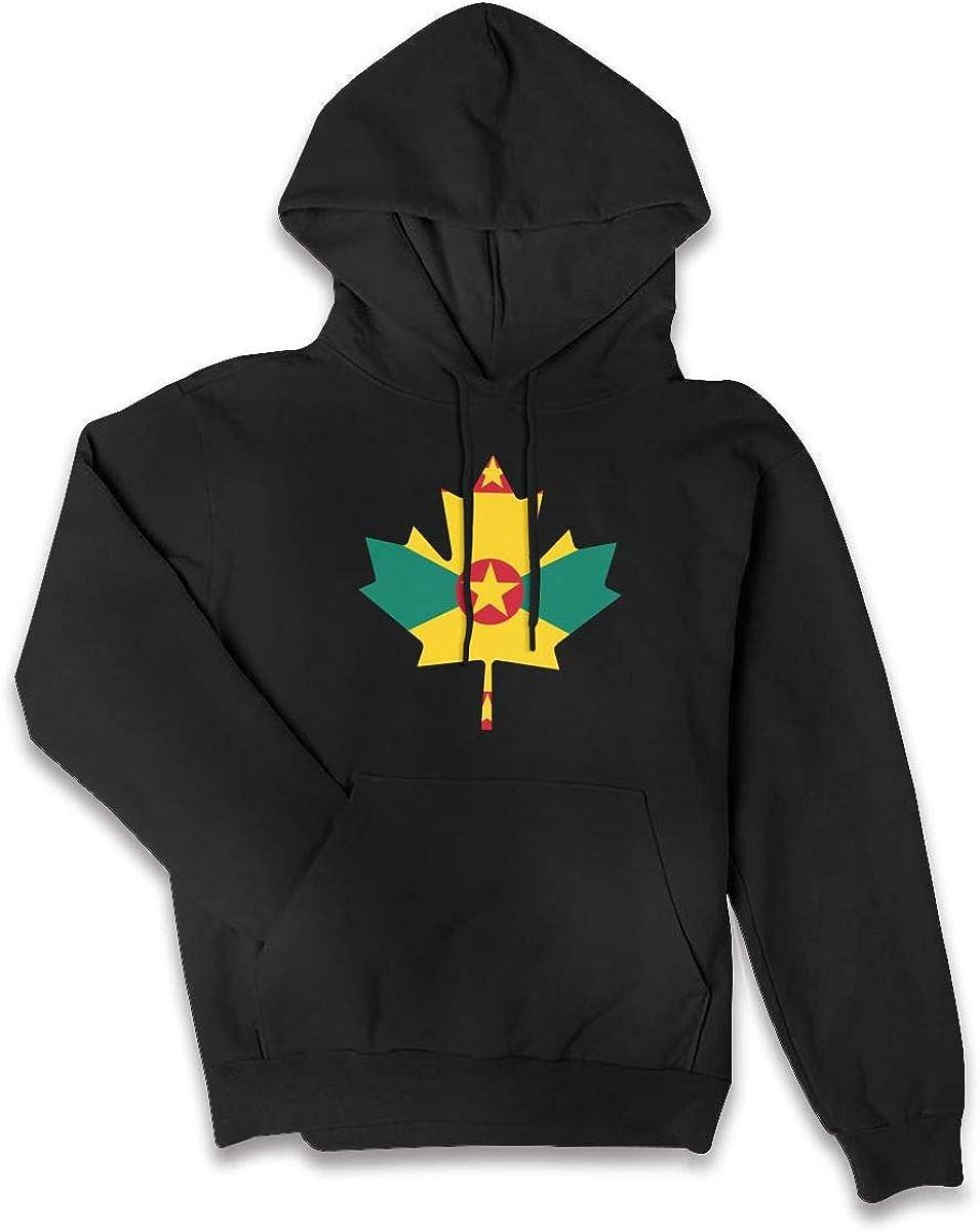 Grenada Flag Canada Maple Leaf-1 Sweater with Pockets Womens Sports Fleece Hoodie