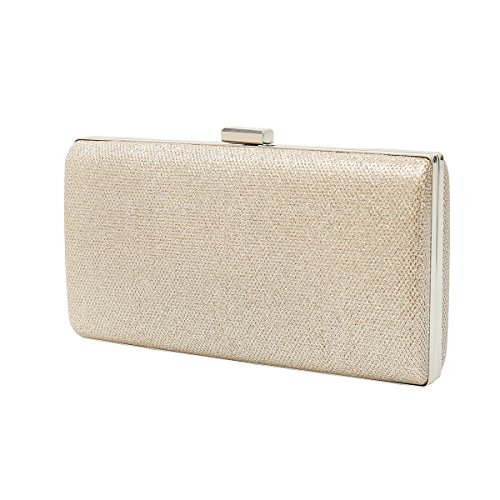 Champagne Handbag Clutch Dress Charming Sparkling Wedding for Bag Glitter Tailor Prom amp; Box Evening Bling qqFHz6T4w