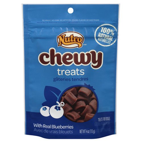 Nutro Chewy Dog Treats, Blueberry, 4 Oz. (Discontinued By Manufacturer)