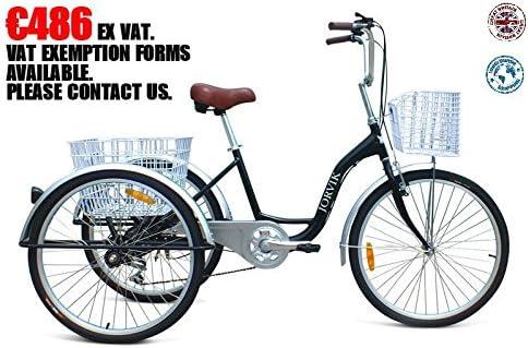 JORVIK - Triciclo para Adultos (Aluminio, Rueda de 26