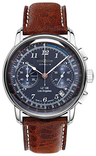 Zeppelin LZ126 Los Angeles Chronograph Blue Dial Men's Watch 7614-3