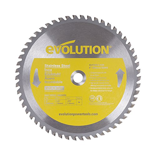 - Evolution Power Tools 8BLADESS Stainless Steel Cutting Saw Blade, 8-Inch x 54-Tooth