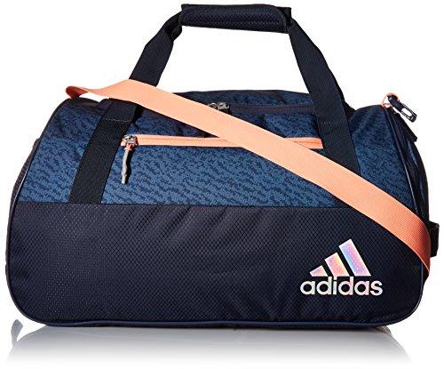 adidas Women's Squad Duffel Bag, Trace Blue/Trace Blue Compass/Sun Glow, ONE SIZE