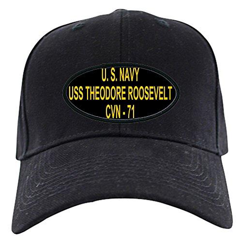 CafePress - USS THEODORE ROOSEVELT Black Cap - Baseball Hat, Novelty Black - Roosevelt Mall