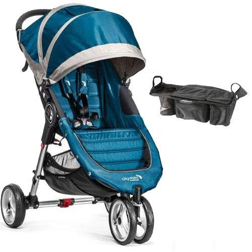 Baby Jogger – City Mini Single Stroller with Parent Console – Teal Gray