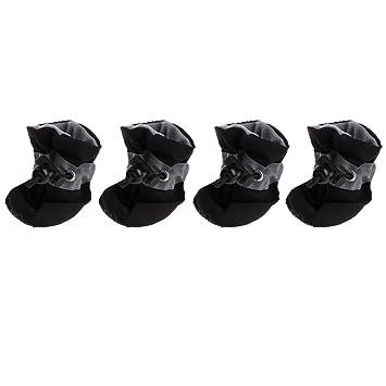Yoli 4pcs botas perro zapato perro gato impermeables botas de lluvia con plantillas antideslizantes: Amazon.es: Productos para mascotas